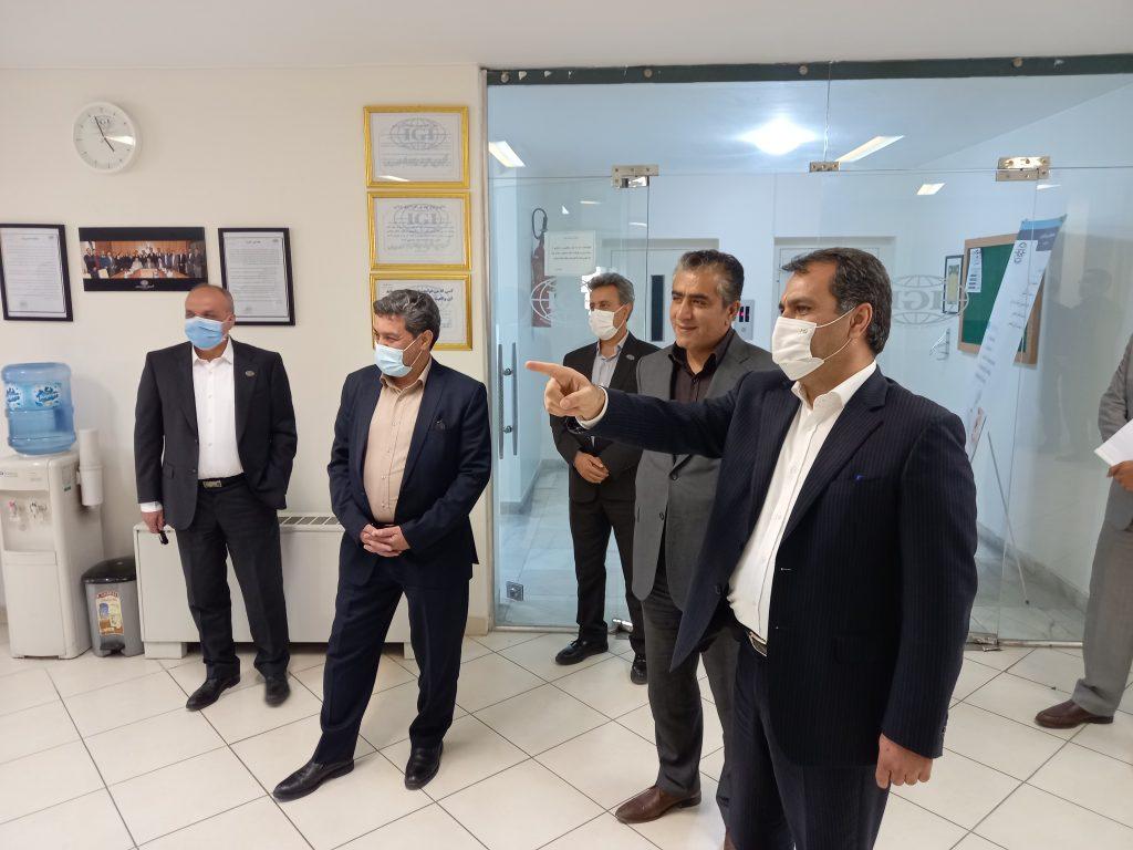 بازدید مدیرعامل هلدینگ سیمان تامین از شرکت IGI